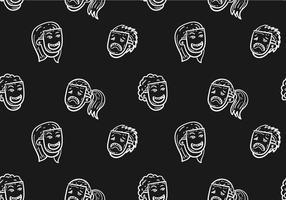 Free Teatro Seamless Pattern Vector Illustration
