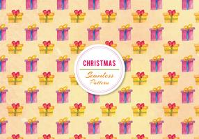 Free Vector Watercolor Gifts Pattern