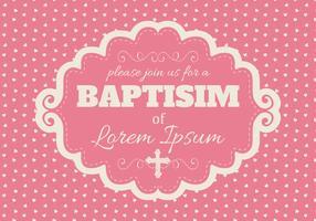 Cute Pink Baptisim Card