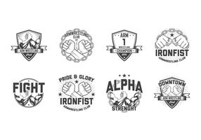 Free Arm Wrestling Badge Vector