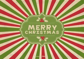 Vintage Sunburst Christmas Background