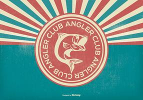 Retro Angler Club Illustration