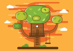 Free Illustration of Cartoon Tree House Vector