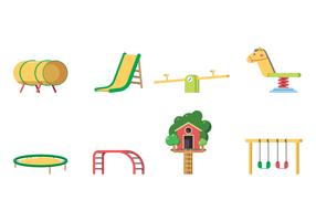 Kids Playground Equipment Vector