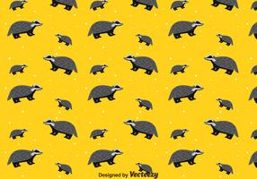 Honey Badger Seamless Pattern