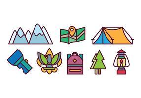 Free Camping Icon Set