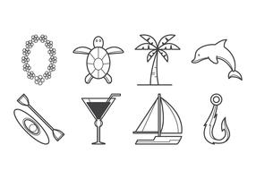 Free Tropical Island Icon Vector