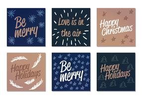 Vector Winter Holiday Cards