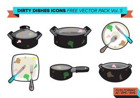 Dirty Dishes Icons Free Vector Pack Vol. 5