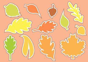 Free Die Cut Autumn Shape Vector