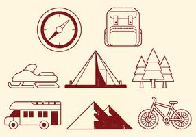 Camping Activities Icons