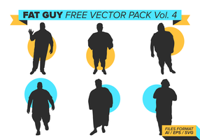 Fat Guy Silhouettes Free Vector Pack Vol. 4