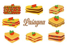 Free Traditional Italian Food Lasagna Vector Illustration