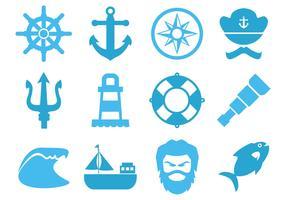 Free Sea Element Icons Vector