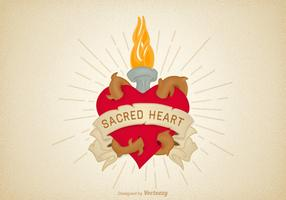 Free Vector Sacred Heart Illustration