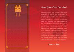 Chinese Wedding Template Illustration