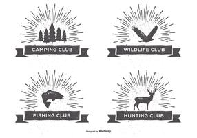 Retro Style Club Labels