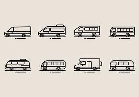 Minibus Icons