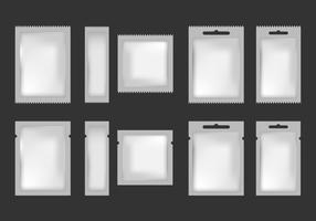 Sachet mock up blank vector