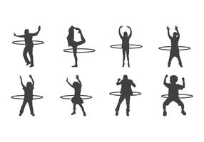 Free Hula Hoop Silhouettes Vector