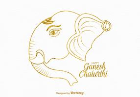 Free Happy Ganesh Chaturthi Vector Card