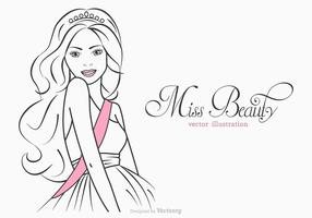 Free Miss Beauty Vector Illustration