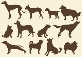 Sepia Dog Silhouettes