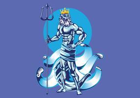 Poseidon Vector Illustration