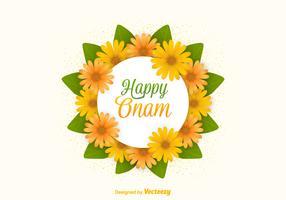 Free Vector Happy Onam Flowers Card