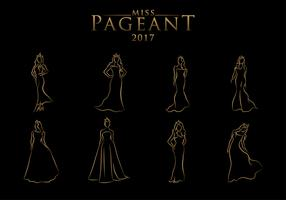 Pageant Line Art Free Vector