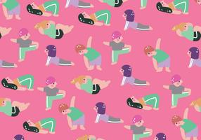 Kids Work-Out Vector Pattern