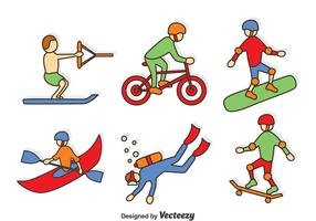 Hand Drawn Extreme Sport Vector Set