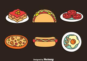Hand Drawn Delicious Food Vector Set
