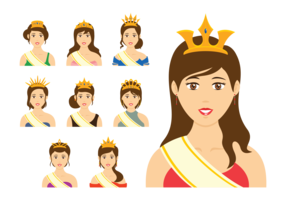 Pageant Queen Vector