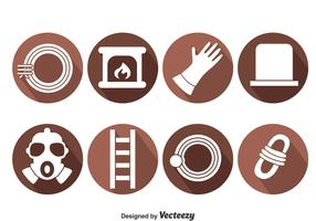 Chimney Sweep Element Icons Vector