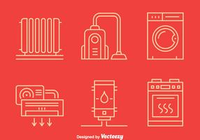Home Appliance Line Icons