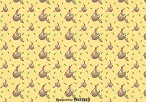 Cute Sloth Seamless Pattern