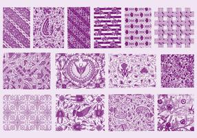 Purple Toile Textures