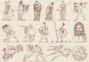 Brown Greek Art Illustrations