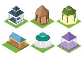 Free Gazebo Icons Vector
