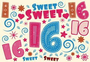 Sweet 16 Greeting Card