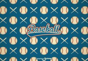 Free Retro Baseball Vector Background