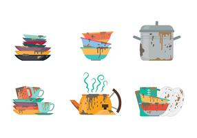 Free Dirty Dishes Icons Vector