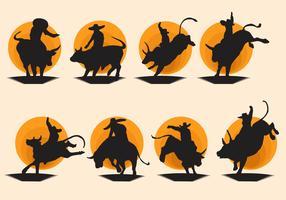Free Bull Rider Vector