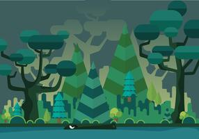 Swamp Vector Background