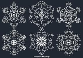 White Ornamental White Snowflakes