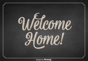 Free Vector Welcome Home Chalkboard Sign