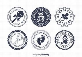 Free Babysitter Vector Badges