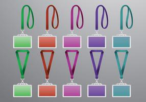 Set Of Lanyard Vectors