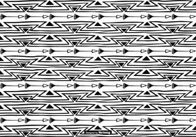 Hand Drawn Boho Style Pattern Background